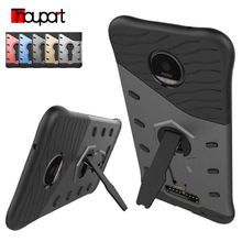 Thouport 5.5 inch Case For Moto Z Cases Rotate Kickstand Silicone cover Shockproof Bags For Motorola Moto Z Droid(China)