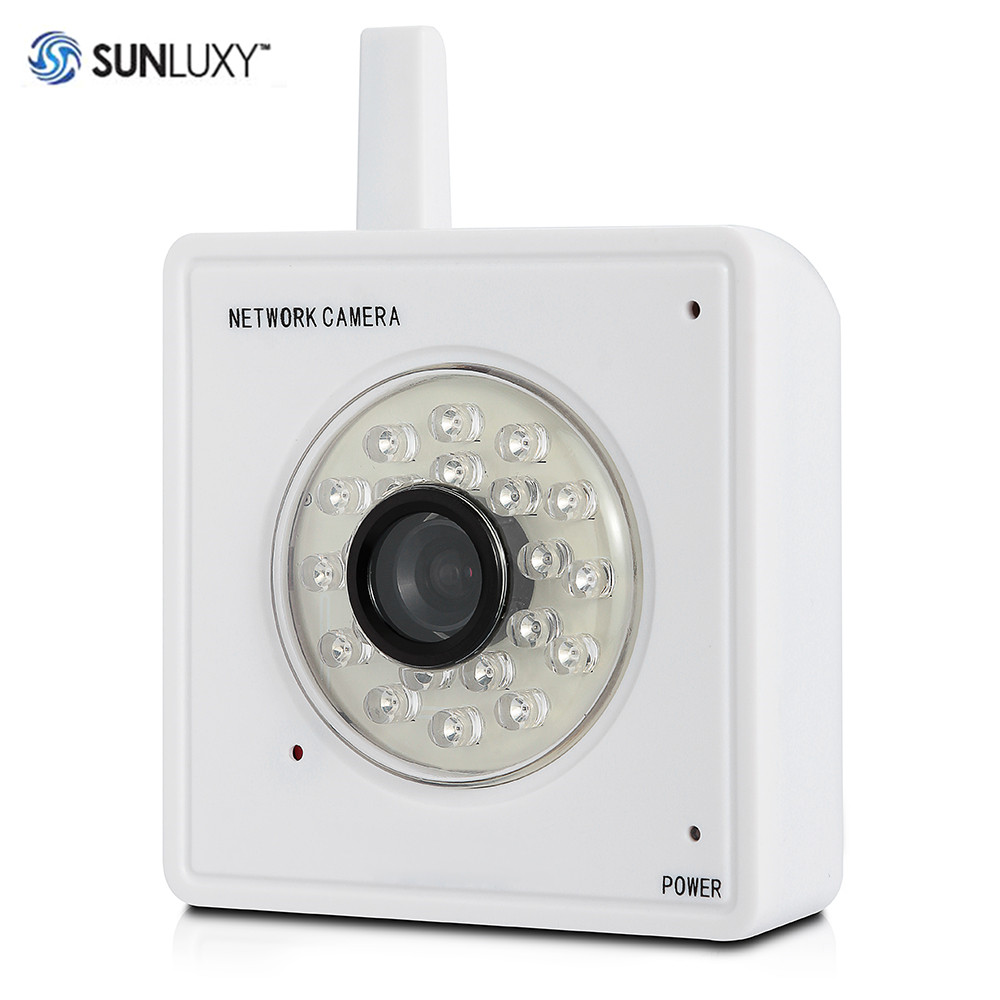 SUNLUXY IP Camera WiFi 720P HD Pan Tilt Infrared Day Night Vision Video Audio Alarm Home Safety CCTV Surveillance Camera Mini319<br>