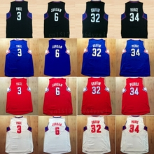 2016 Basketball 3 Chris Paul Jersey Fashion Men's 32 Blake Griffin Sports Jerseys 34 Paul Pierce Team Color Red Blue White Black(China)