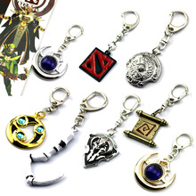 dota 2 keychain pudge toys set 2016 New Game Dota2 action figures resin weapons sword Talisman props ornaments car styling decor(China)