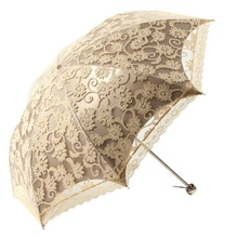 Hot!!! Women Sun Rain Umbrella Elegant Princess Lace Sunshade Umbrellas Three Folding Umbrella Anti-UV Parasol(China)