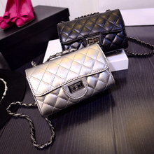 Fashion Women Handbags 2016 New Wave European and American Quilted Chain Bag Small Square Package Handbag Shoulder Messenger Bag(China)