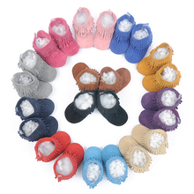 2016 New Suede Genuine Leather Newborn Baby Infant Toddler Moccasins Soft Moccs Shoes Babe Soft Soled Non-slip Prewalker boots