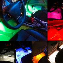 9LED 12V Car styling Interior Dash Floor Foot Decoration Light Lamp Cigarette LED Atmosphere Lights Decoration Lamp droshipping(China)