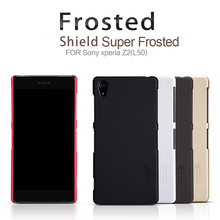for Sony Xperia Z2 L50 NILLKIN Super Frosted Shield Case, case for Xperia Z2 retailed package by free shipping(China)