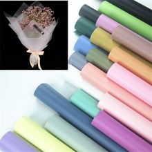 Modern Stylish Waterproof Paper Gift Flower Wrapping Paper 10pcs Bouquet Wrapping Paper Packaging Material Florist Supplies(China)