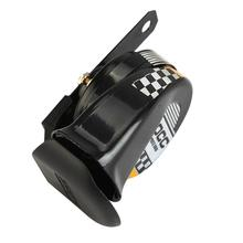 12V 510Hz Black Motorcycle Horn Scooter Go-Kart Dirt Bike Car Loud Voice Speaker Horn Mini Loud Electronic Snail Racing Horn