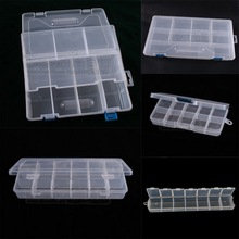 1pcs Multi Option Adjustable Plastic Transparent Storage/Box Jewelry Ring Earrings Boxes Cases Beads Rings Jewelry Displays