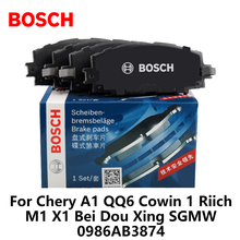 4pieces/set Bosch Car Front Brake Pads For Chery A1 QQ6 Cowin 1 Riich M1 X1 Bei Dou Xing SGMW 0986AB3874(China)