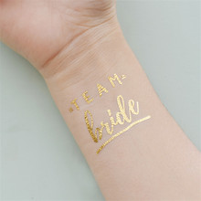 FaMaSuDu bride tribe Temporary Tattoo bachelorette party accessories Bridesmaid bridal shower wedding decoration party favor 3pc