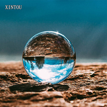XINTOU Clear Photography Crystal Ball 80 mm Glass Marbles Balls Feng shui Home Decor Sphere Magic Globe Office Presse-papier(China)