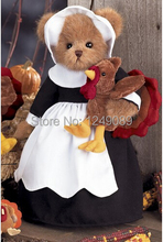 Free shipping 14 inch Bearington teddy bear with turkey for Halloween soft plush bear toys creative gift