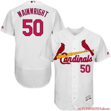 MLB Men's St. Louis Cardinals Adam Wainwright Baseball Home White Flex Base Authentic Collection Player Jerseyy(China)