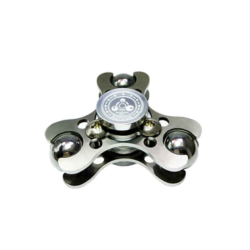 Hand Bearing Fidget Spinner Aluminum SteelBall Finger Gyro Black