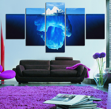 Canvas Painting 5 Pieces Tip Of The Iceberg Painting Canvas Wall Art Picture Home Decora Living Room Print
