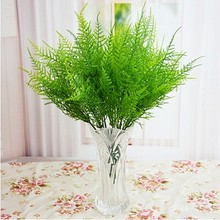 Chinese Characteristics Artificial Asparagus Fern Grass Plastic Green 7 Stems Bushes Flower Bonsai Home Garden Floral Decoration