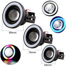 1Set(2PCS) 10W Projector Halo Rings 2.5Inch 3Inch 3.5Inch 12V DC 3200LM COB Fog Lamps Fog Lens Angle Eyes Fog Lights Car Styling
