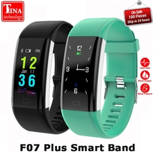 Buy 100% Original F07 Plus Smart Band Heart Rate Monitor Bracelet Blood Pressure Fitness Tracker Smartband Sport Watch Wristband for $20.72 in AliExpress store
