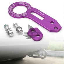 Universal For Most Car Auto Trailer Ring Purple Aluminum Car Auto Racing Trailer Ring Tow Hook Eye Tow Car Screwon Towing Bars(China)
