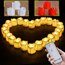 24 Set New Ideas To Marry Confession Simulation Electronic Candle LED Tears Candle Light Birthday Party Atmosphere Layout Props