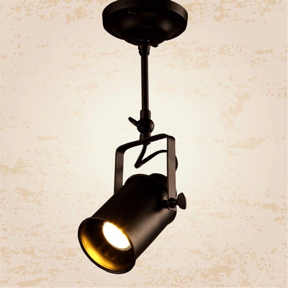 LED Mounted Single Head Creative Spotlights Bright COB Vintage Clothing Store Restaurant Bar Sets Industry Personality Spotlight<br><br>Aliexpress