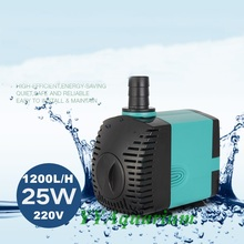 Aquarium Submersible Water Pump for Fish Tank Ponds Marine Fountain Irrigation 220V High power Pump w/ EU Plug 25W 1200L/H(China)