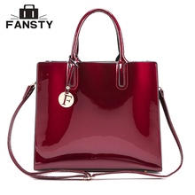 Fashion Brand Designer Women Big Totes Handbag Office Lady Patent Leather Jelly Cross Body Bag Female Vintage Shoulder Bags(China)
