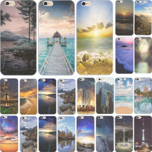 Suprise Popular Pretty Scenery Silicon Phone Cover Cases For Apple iPhone 5C iPhone5C Case Shell Pretty Design Hot Selling