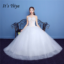 Buy It's YiiYa White Popular Strapless Sleeveless Wedding Dresses Luxury Crystal Beading Embroidery Plus Size Wedding Gown H01 for $40.85 in AliExpress store