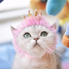 2 different style pet hats for birthday party cat dog crown magic caps lovely and beautiful lace pet caps hair accessories