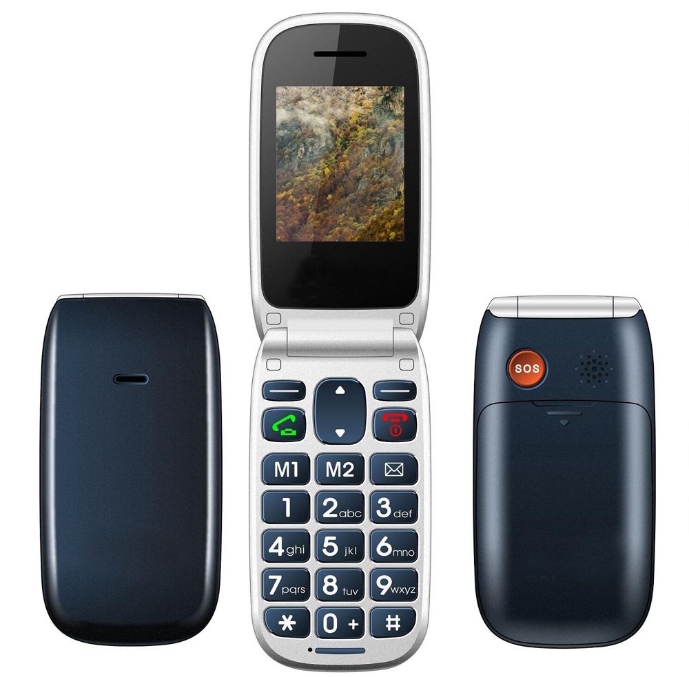 China Clamshell Mobile Flip Phone W77 Senior elder Old Man cell phone big button SOS Emergency Call Dual sim FM Radio Russian(China (Mainland))