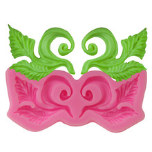 2hold DIY Leaf Flower Cake Lace Moulds Silicone Candle Mold Fondant Cupcake Soap Candy Chocolate Decoration Baking Tool FQ3410