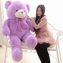 The lovely lavender teddy bear doll plush purple huge teddy bear toy  birthday gift about 160cm