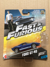 New Arrival Hot Wheels 1:55 fast and furious ford gt 40 Diecast Car Models Collection Kids Toys Vehicle(China)