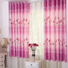 Tulle Voile Kids Sunflower Calico Finished Product Cloth Window Screens Curtain Bedroom Curtain Blackout