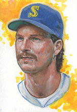 Original ART # Randy Johnson Mariners Legend  oil painting--100% hand painted 24 inch- best home Decor -free shipping
