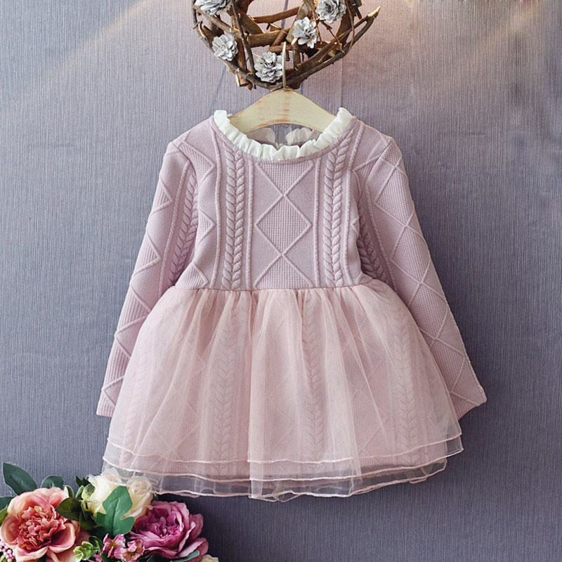 Fashion Autumn Childrens Kids Baby Girls Patchwork Long Sleeved Princess Party Dress Vestidos S4004<br><br>Aliexpress