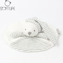 25CM Baby Plush Toy Bear Scarf Handkerchief Appease Towel Rattles Crap Doll Animal Sleep Comfort Doll For Calm Towel Educational(China)