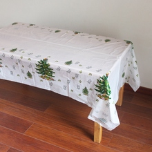 Disposable Plastic Table Clothes Table Cover Tablecloth Christmas Tree For Crhistmas Party Home Decoration 180*108cm(China)