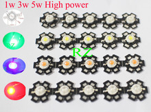 1W 3W 5W High Power Red/Green/Blue/Royal Blue LED Emitter Bulb + 20mm Star PCB