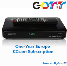 GOTiT SOLOVOX F5S Plus with 1 year Europe CCCAM Subscription Satellite Decoder DVB-S2 Receiver Better than Freesat V7 V8 Super