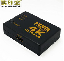 4K*2K 1080P HDMI Video Audio Signal Splitter 3 Input 1 Output Switch Switcher For DVD/PS4/HDTV