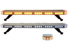 United Safe free shipping ESM3528 low profile GEN III 1 Watt super bright LED Warning Lightbar(amber/blue/red/white)