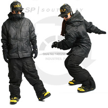 "New Edition ""Southplay"" Winter Waterproof 10,000mm Warming Military(North Jacket + Black Pants)Sets"