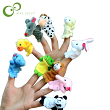 10pcs/set animals finger puppets baby plush toys finger dool free shipping