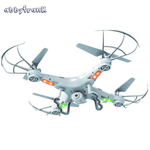 Abbyfrank RC Helicopter Drone Remote Control 360-Eversion 2.4G 4 CH 6 Axis Gyro Quadcopter Led Light Plane Toy Without Camera(China)