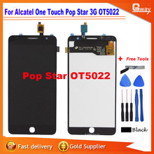 Top Quality LCD Display+Touch for Alcatel POP STAR OT5022 lcd screen Free Shipping + Tools