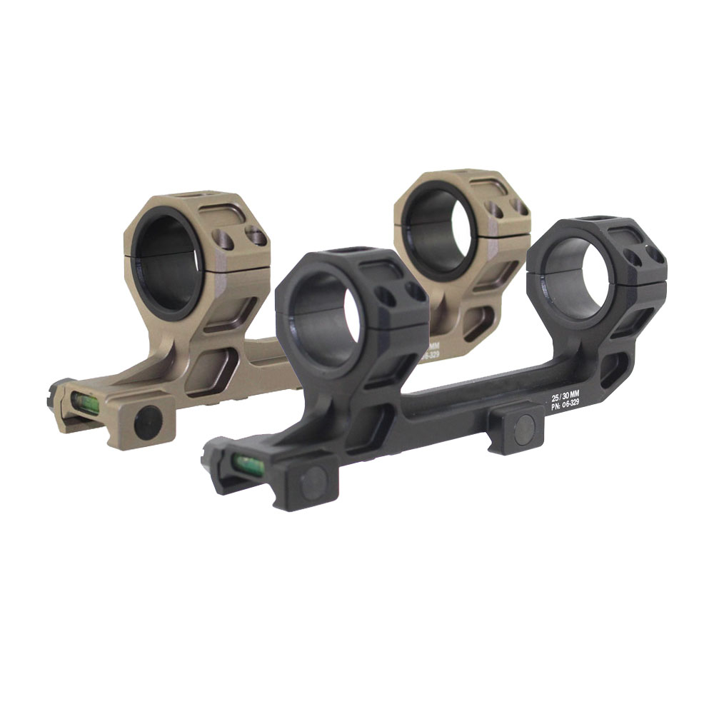 Tactical 25mm 30mm Dual Ring Scope Mount Universal Cantilever Anti Cant Bubble Level Ring Laser Mount Fit 20mm Picatinny Rail<br>