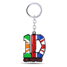 HSIC Dropshipping Rock Band One Direction Keychains Key Chain Metal Pendants Key Ring 6*4.8cm for Fans Valentine's Day Gift10971