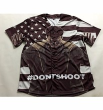 2 Styles Real American Size Hand's Up - Don't Shoot! BLACK LIVES MATTER! 3D Sublimation Print Custom baseball jersey plus size